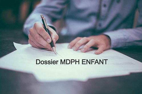 Rédaction et montage complet de votre dossier MDPH Enfant