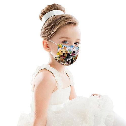 Lot de 50 masques jetables décorés enfant