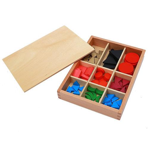 Symboles de grammaire en 2D boite en bois