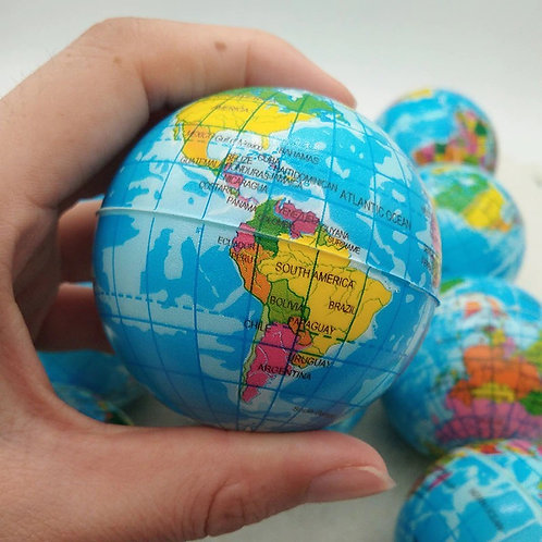 Balle anti stress modèle Terre