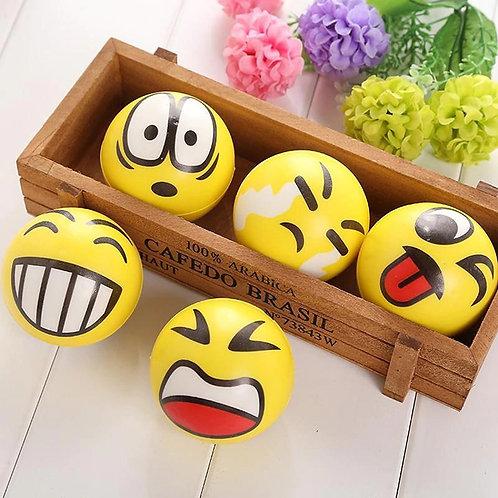 Balle anti stress modèle smiley