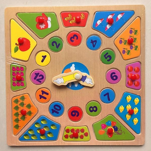 Puzzle Bois Horloge