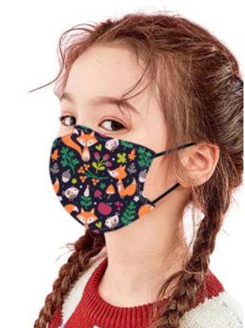 Masque en tissu décoré enfant