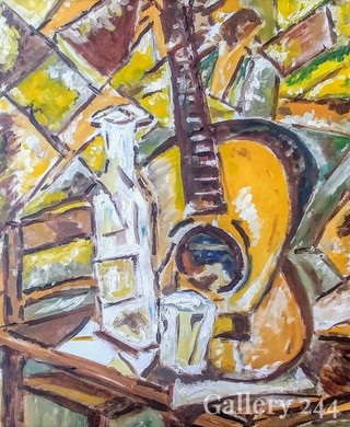 Guitar, Bottle and Glass
