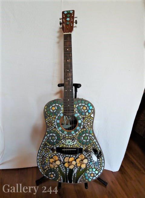 Green Ceramic Guitar