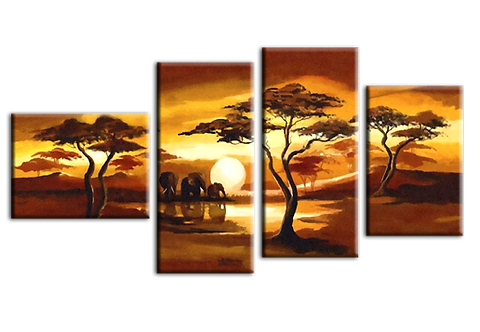 «Африканские мотивы. Слоны на восходе»