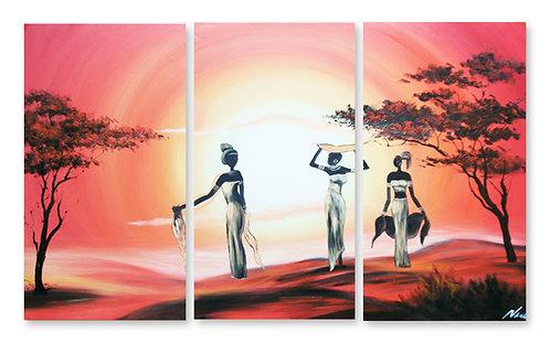 «Африканские мотивы. Девушки у реки»