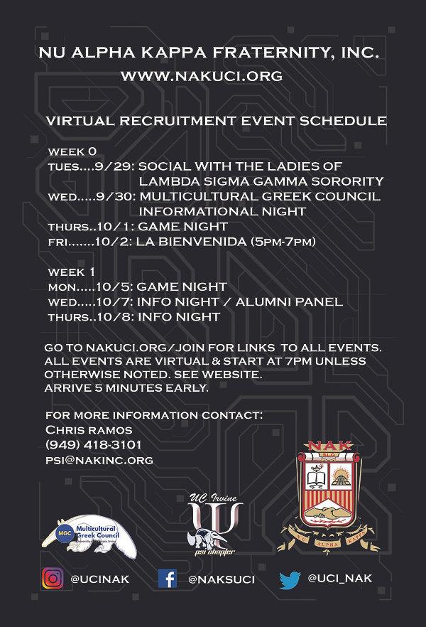 NAK PSI Fall 2020 Recruitment Flyer Back