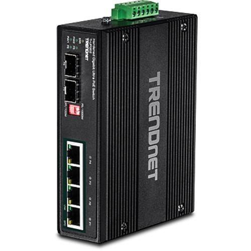 TRENDnet 6-port hardened Industrial Gigabit Ultra PoE+ Switch (5 Gigabit / 1 sha