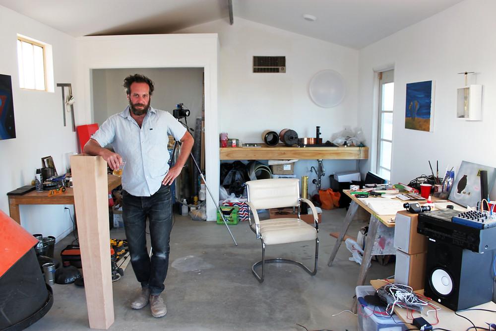 Kyle Simon in his studio