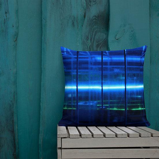 Blue Electric Premium Pillow