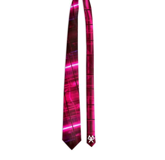 Pink Electric Tie
