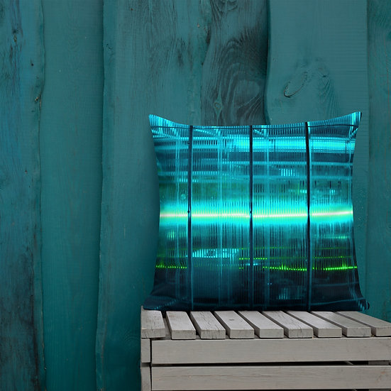 Turquoise Electric Premium Pillow