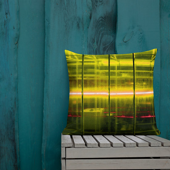 Yellow Electric Premium Pillow