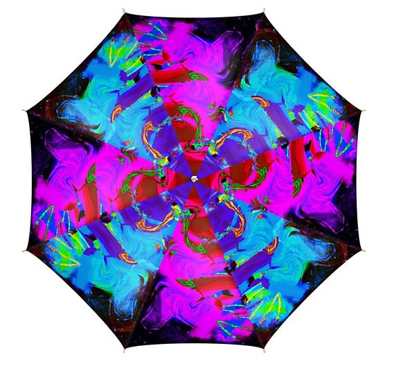 Psychedelic Print Umbrella
