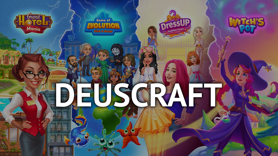 Общая обложка по 4 играм DEUSCRAFT январ