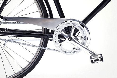 Pelago kædeskærm i poleret aluminium inkl. montering