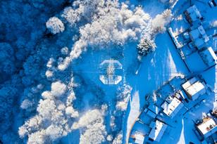 Pylon in the Snow