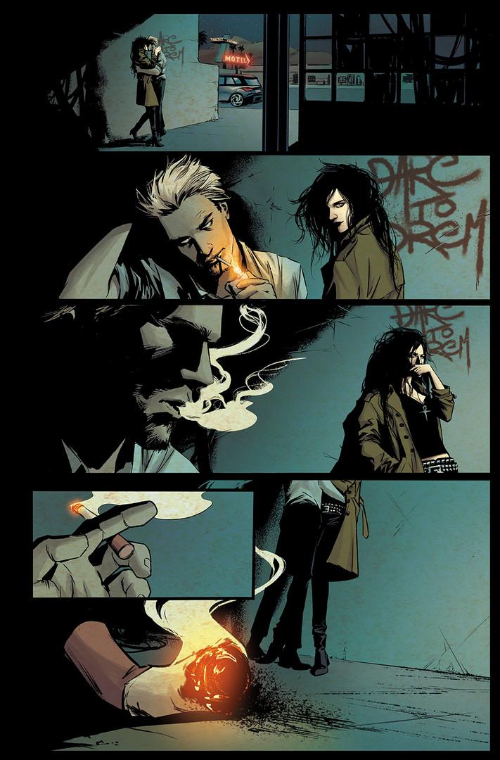 Constantine & Death Fanart - Dc Color Sample
