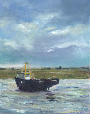 Oil Boat, Old Leigh 20cm x 25cm.jpg