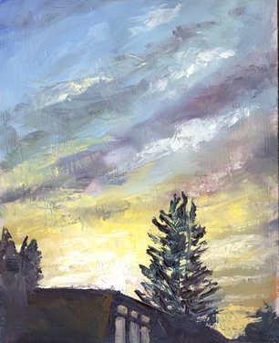 Oil Garden View Sun Set 20cm x 25cm.jpg