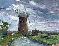 Oil Horsey Mere Windmill 25cm x 20cm.jpg