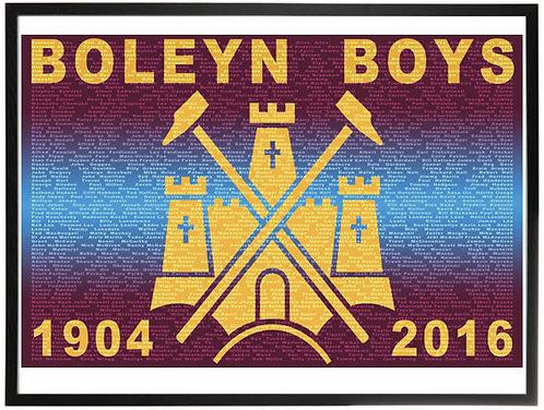 Framed Boleyn Boys Print (Black)