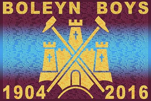 Boleyn Boys Print Unframed