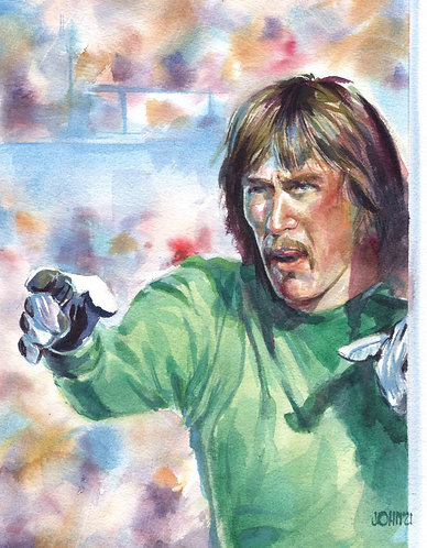 Phil Parkes Unframed Print on textured paper.