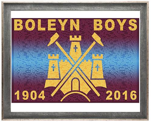 Framed Boleyn Boys Print (Rustic Wood)