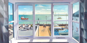 Old Leigh Window View.