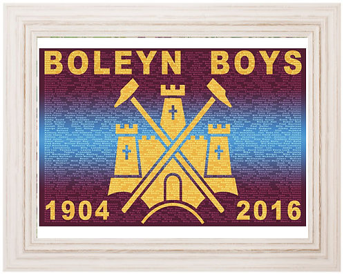 Framed Boleyn Boys Print (White)