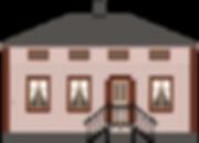Svarta Katten hus illustration
