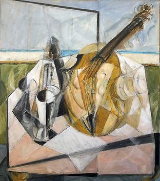 Musician's Table 3, 2021, oil on Belgian