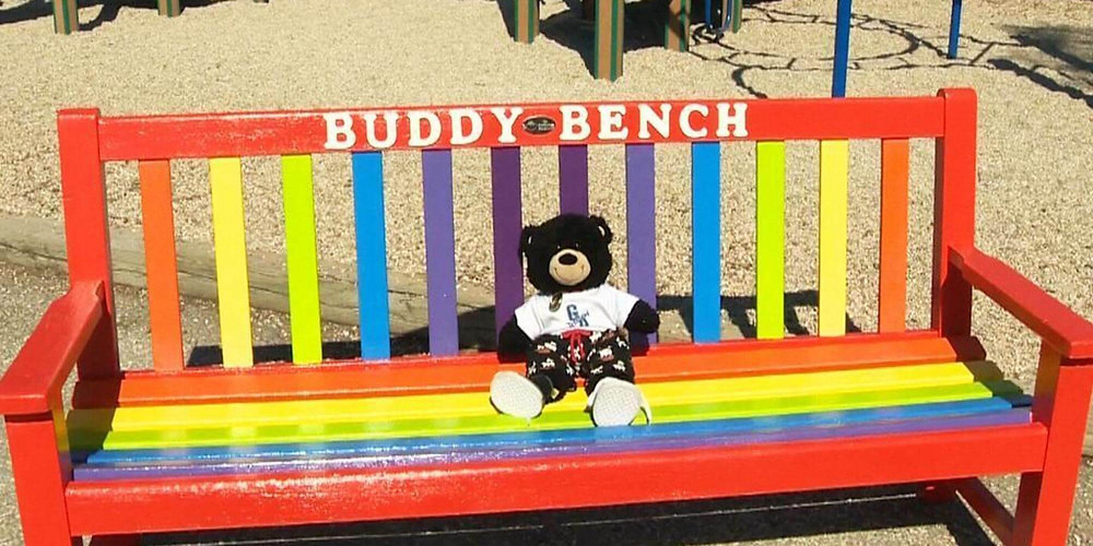Buddy Bench encourages socialization in kids
