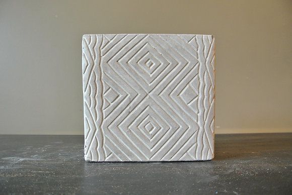 Patterned Square Vase