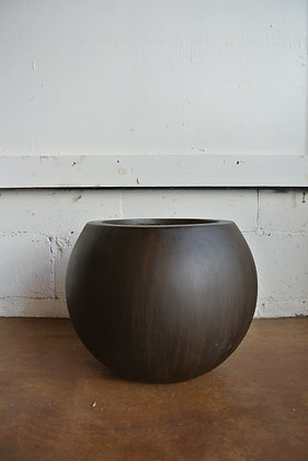 Small Round Brown Planter