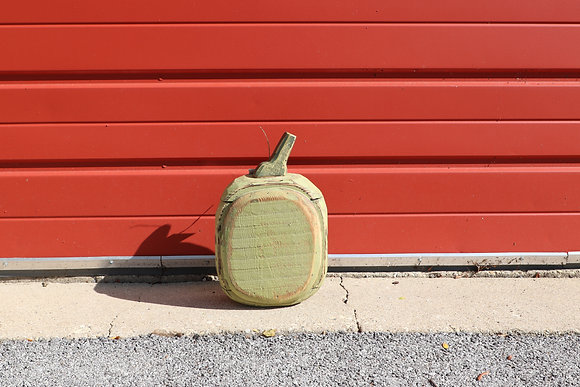 Small Rounded Pumpkin - Green