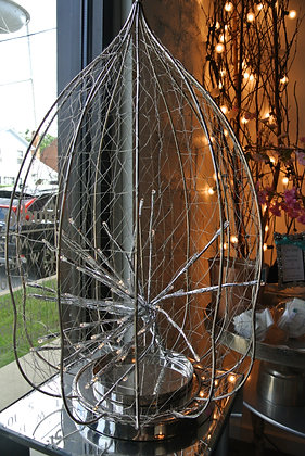Silver Enclosure with Lights that Sparkle