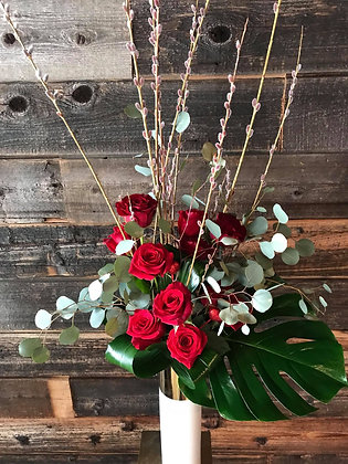 Dozen Roses - Tall