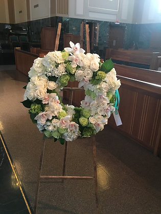 In Our Prayers Wreath