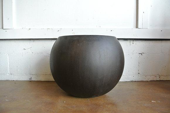 Large Round Brown Planter