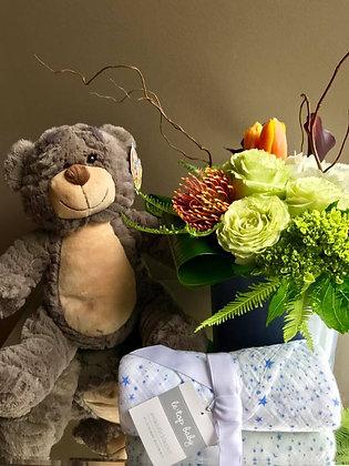 It's a Boy Flowers, Brown Bear, & Gift