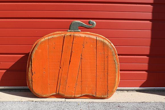 Large Wide Pumpkin - Orange
