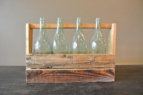 Vintage Bottles & Holder