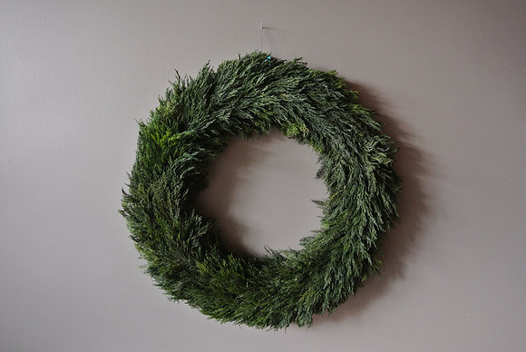 Large Preserved Cypress Wreath