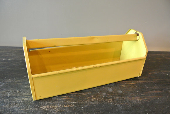 Vintage Yellow Toolbox
