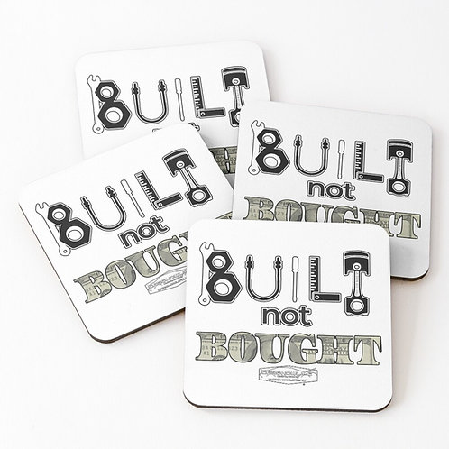 Built Not Bought Coasters (Set of 4)