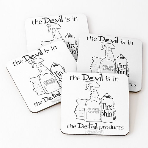 The Devil Is In The Detail Products Coasters (Set of 4)
