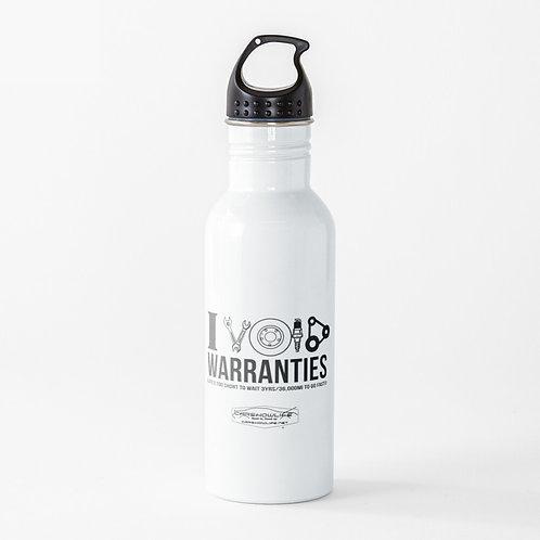 I Void Warranties Water Bottle